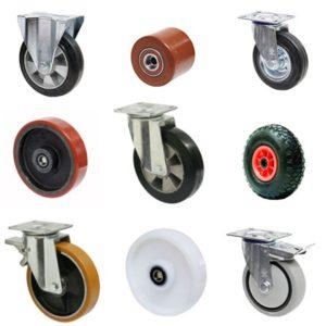 Какие колеса для тележек существуют?